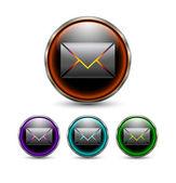 Message button. vector — Cтоковый вектор