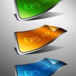 Vector stickers eps10 — Stock Vector