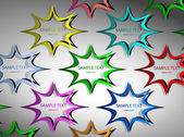 Star stickers — Stock Vector