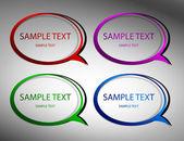 Original stickers. vector — Stock Vector