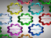 Kreativa klistermärken — Stockvektor