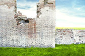 Ruined Brick Wall — Stock Photo