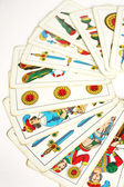 Trump Cards Semicircle Position — Stock Photo