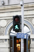 Man Traffic Light East Berlin — Stock Photo