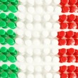 Italian Flag Texture — Stock Photo