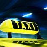 Постер, плакат: Taxi Sign