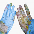 Royalty-Free Stock Photo: The World in my Hands