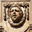 Face Sculpture Doorway — Stock Photo