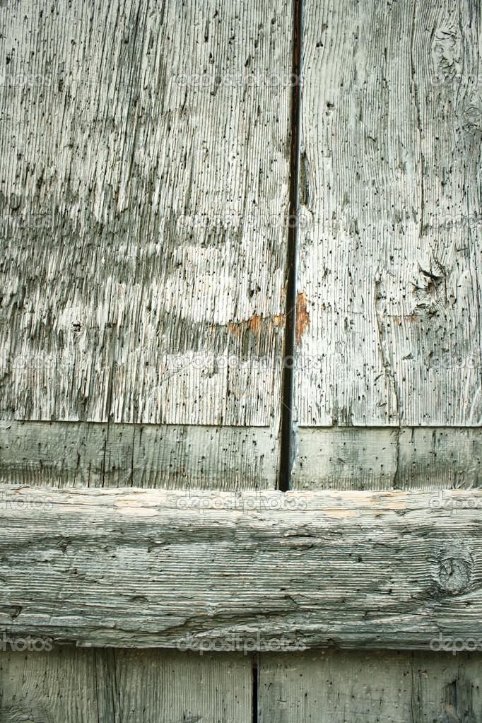 Texture of a wooden door frayed  Stock Photo #9646178