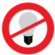 No old light bulbs - Stock Vector
