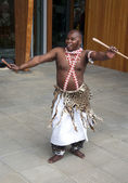 African dancer on the floriade — Stock Photo
