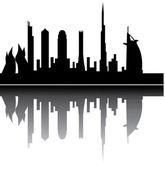 Dubai skyline — Stock Vector