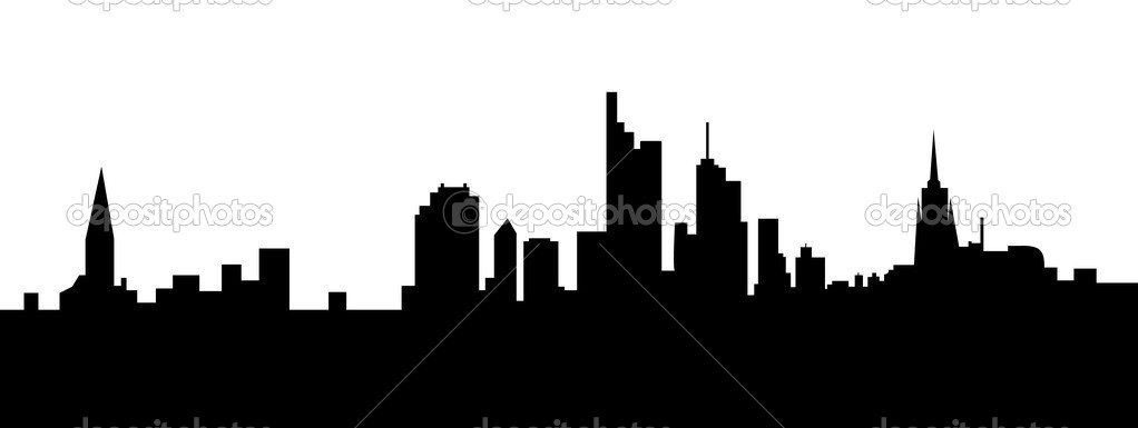 Frankfurt skyline germany — Stock Vector #8455485