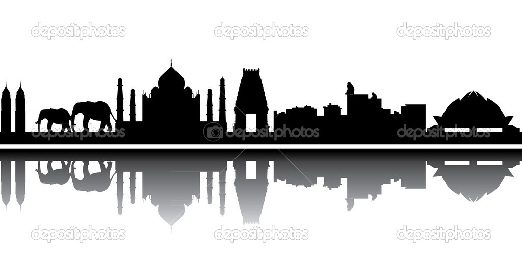 India skyline — Stock Vector #8455512