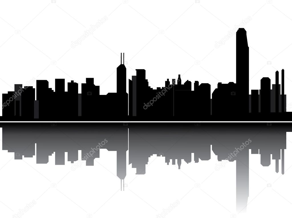 Hong kong skyline — Stock Vector #8455515