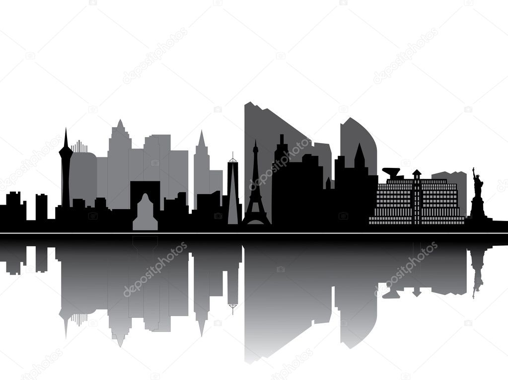 Las vegas nevada skyline — Stock Vector #8562479