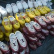 Stock Photo: Wooden shoes on market