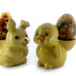 Easter duck and bunny — Stock Photo