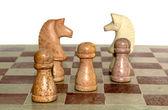 Chess pieces — Stock fotografie