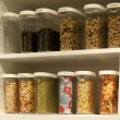 Cupboard with food stock — Stock Photo