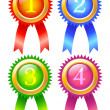 Stock Vector: Buttons winners