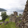 Urqhart castle at Loch Ness — Stock Photo