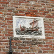 Plaque of fishermen inEnkhuizen in the Netherlands — Stock Photo