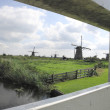 Kinderdijk windmills - Stock Photo