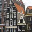 Amsterdam canal houses - Stock Photo