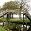 High wooden bridge - Stockfoto