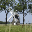 Old windmill in Dutch landscape - Stock Photo