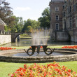Fountain at castle Twickel - Stock Photo