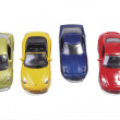 Four minature toy cars - Photo
