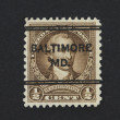 Browm postages stamp of President Washington of 1932 - Photo