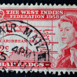 WEST INDIES-CIRCA 1958: West Indies Federation postage stamp wit — Stock Photo