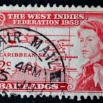 WEST INDIES-CIRCA 1958: West Indies Federation postage stamp wit — Stock Photo