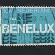 Benelux postage stamp — Stock Photo