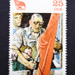 Stock Photo: Vintage East German postage stamp