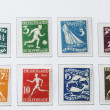 Olympic postage stamps of 1928 — Stock Photo