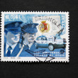 Italian postage stamp with policemen — Stock Photo