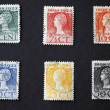 THE NETHERLANDS-CIRCA 1923: Series of vintage dutch postage stam - Stock Photo