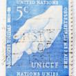 Unicef postage stamp of 5 ct — Stock Photo #8621673