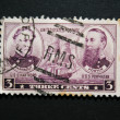 Amercian vintage postage stamp co - Stockfoto