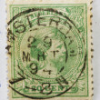 Very old Dutch postage stamp — Stock Photo #8621757