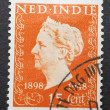 Stock Photo: Old postage stamp from Dutch Indies