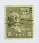 US postage stamp with image of President van Buren — Stock Photo
