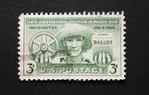 American vintage postage stamp about election in Puerto Rico — Stock Photo