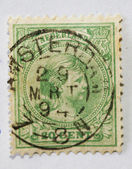 Very old Dutch postage stamp — Stock Photo