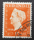 Old postage stamp from the Dutch Indies — Stock Photo