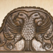 Antique wooden headboard — Stock Photo